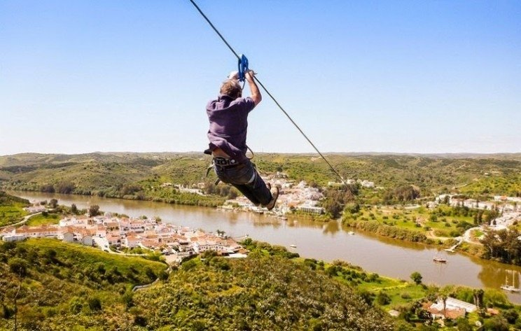Things to do in Portugal - zip-line between Spain and Portugal