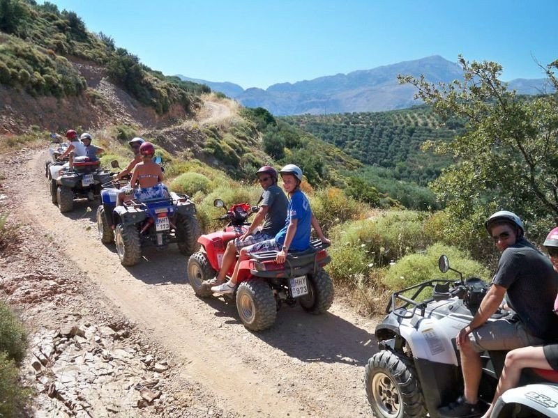 Follow instructions on group quad  tours!